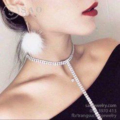 Chocker dây dài ca sỹ Hương Tràm