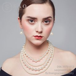 Bộ trang sức ngọc trai Sophia cao cấp ELBTS09