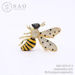 Cài áo con ong mạ vàng dễ thương SHCA58