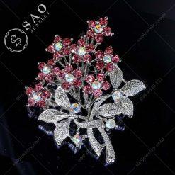 CÀI ÁO ĐẸP nhành hoa màu hồng
