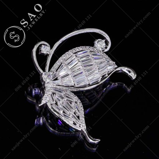 CÀI ÁO PHA LÊ bướm xinh bạc 925 cao cấp