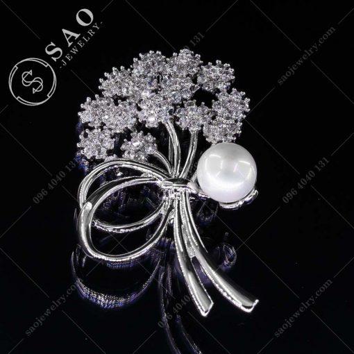 HOA CÀI ÁO bó hoa bạc 925 sang trọng