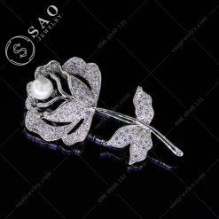 HOA CÀI ÁO thời trang bạc 925 hàn quốc