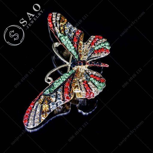 PHỤ KIỆN CÀI ÁO NỮ bướm đỏ phong cách