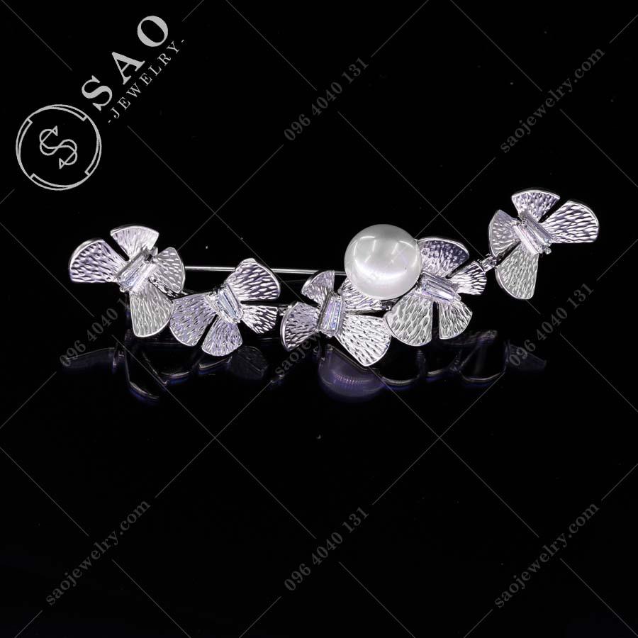 PHỤ KIỆN CÀI ÁO NỮ đàn bướm bạc 925 cao cấp