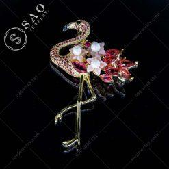 PHỤ KIỆN CÀI ÁO NỮ hạt chở hoa đính pha lê cao cấp