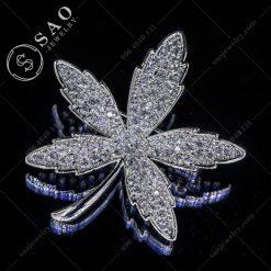 PHỤ KIỆN CÀI ÁO NỮ lá phong bạc 925 cao cấp