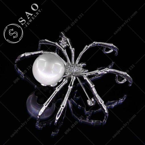 PHỤ KIỆN CÀI ÁO NỮ nhện đính hạt ngọc cao cấp