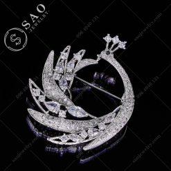 PHỤ KIỆN CÀI ÁO NỮ phượng hoàng múa bạc 925 cao cấp