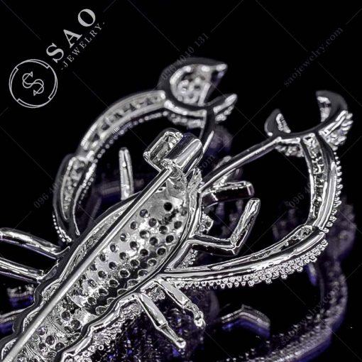 PHỤ KIỆN CÀI ÁO NỮ tôm bạc 925 cao cấp
