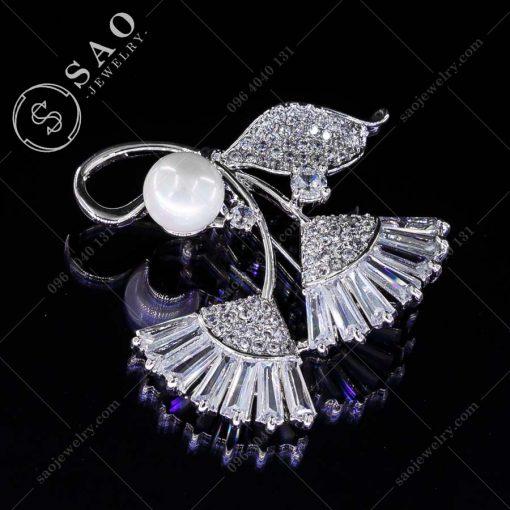 PHỤ KIỆN CÀI ÁO bó hoa bạc 925 thời trang