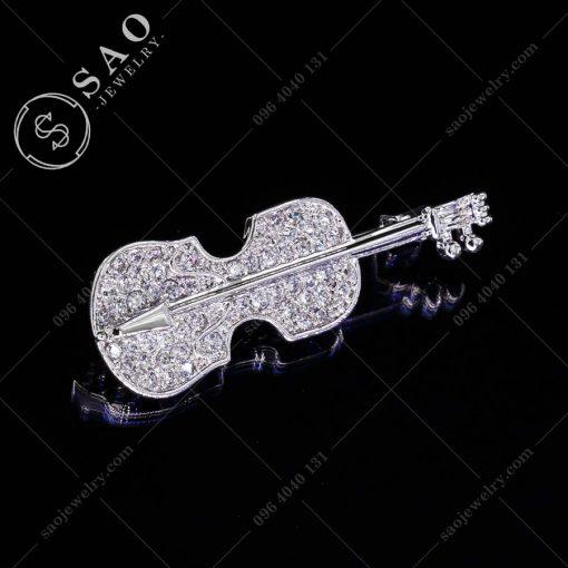 PHỤ KIỆN CÀI ÁO đàn violin bạc 925 hàn quốc
