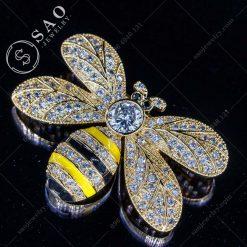 PHỤ KIỆN CÀI ÁO ong vàng hàn quốc