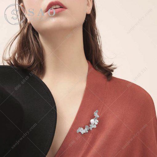 Phụ kiện cài áo nữ đàn bướm bạc 925 cao cấp CA224