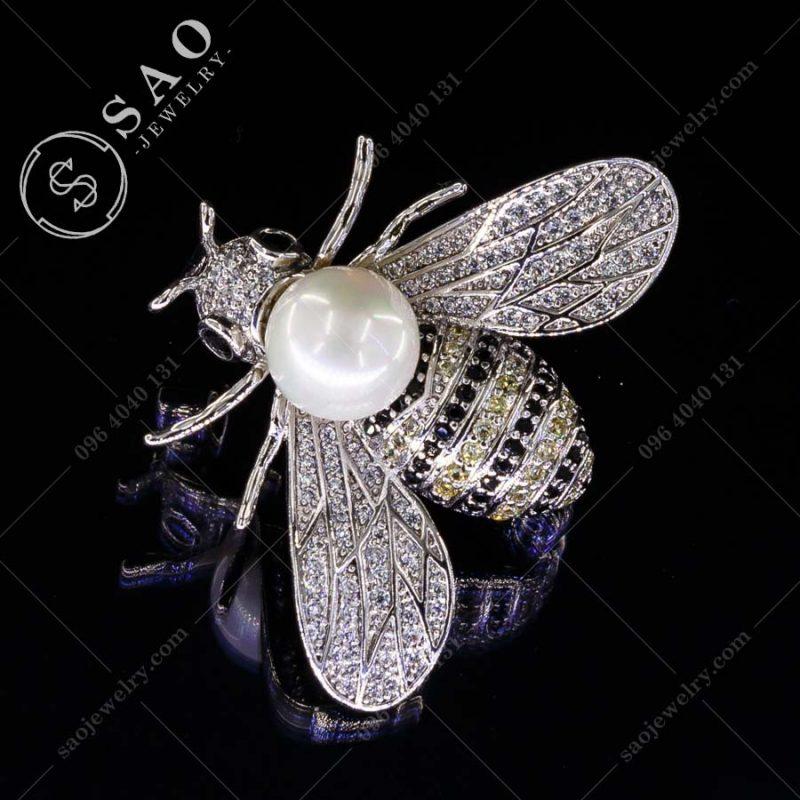 PHỤ KIỆN CÀI ÁO NỮ ong bạc 925 hàn quốc