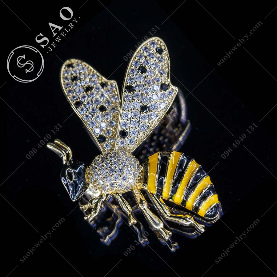 PHỤ KIỆN CÀI ÁO NỮ ong mạ vàng sang trọng
