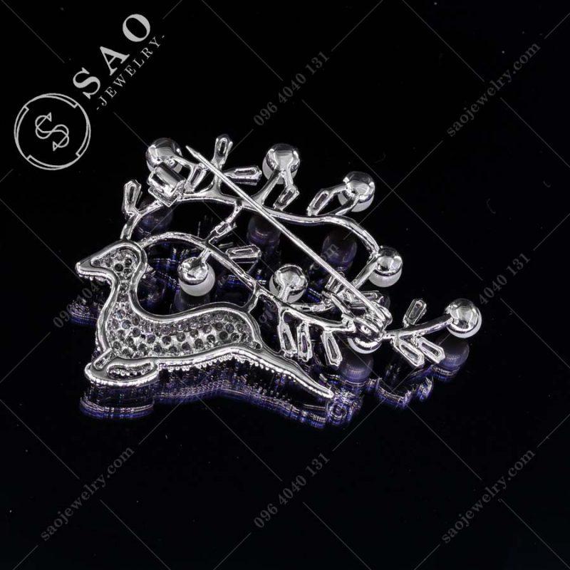 PHỤ KIỆN CÀI ÁO NỮ tuần lộc bạc 925 cao cấp