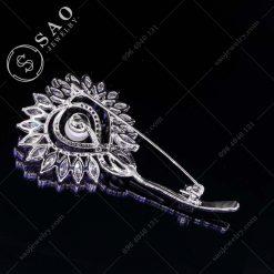 PHỤ KIỆN CÀI ÁO NỮ bạc 925 bồ công anh pha lê cao cấp