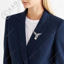 PHỤ KIỆN CÀI ÁO chim ưng bạc 925 pha lê đẳng cấp