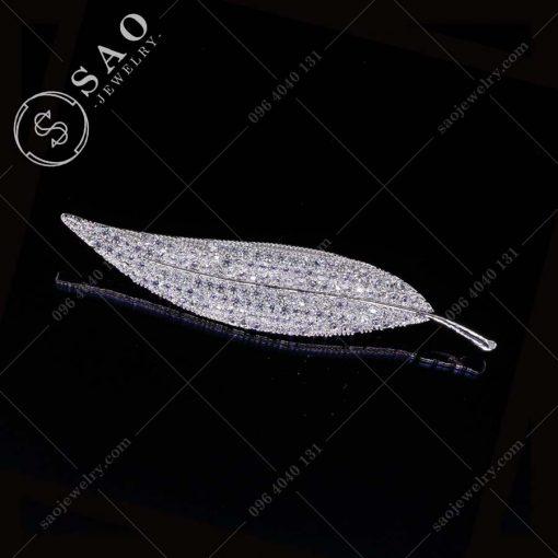 PHỤ KIỆN CÀI ÁO chiếc lá bạc 925 sang trọng