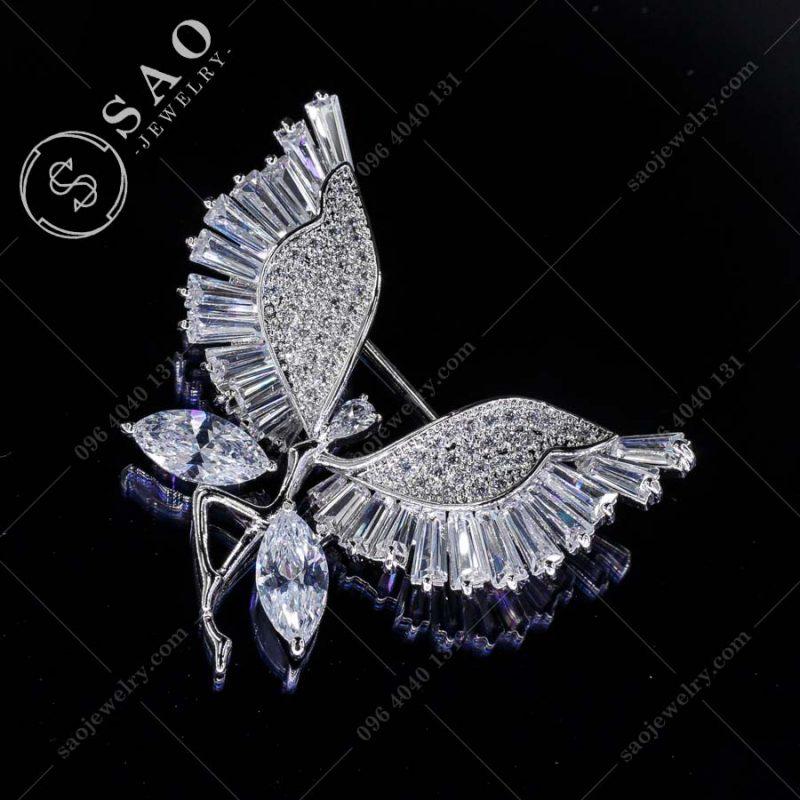 PHỤ KIỆN CÀI ÁO thiên thần đôi cánh pha lê cao cấp