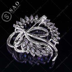 PHỤ KIỆN CÀI ÁO bạc 925 vòng pha lê sang trọn