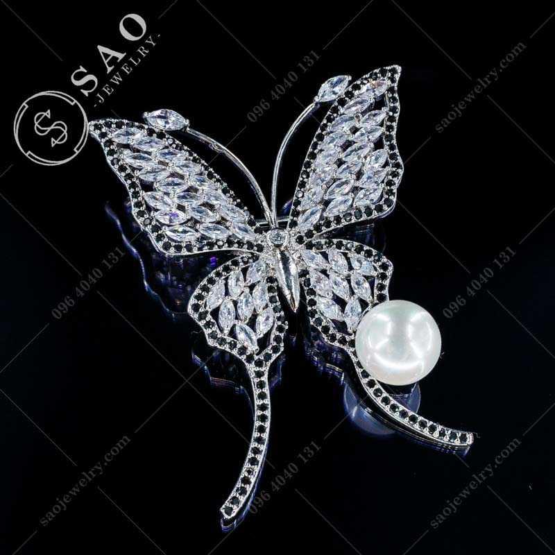 Cài áo bướm đính đá cao cấp CA328