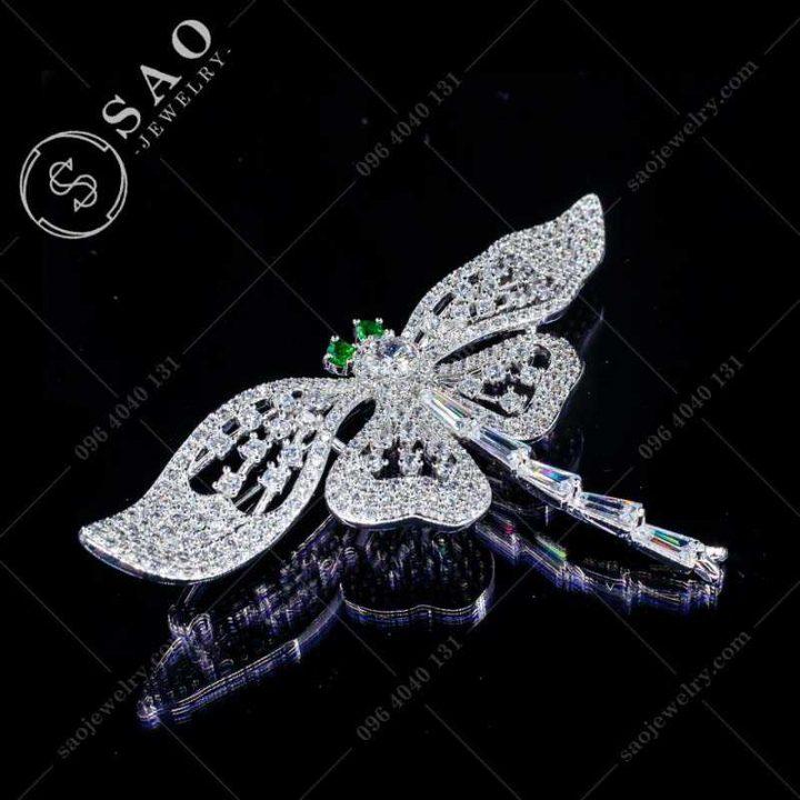 Cài áo bướm đính đá cao cấp CA351