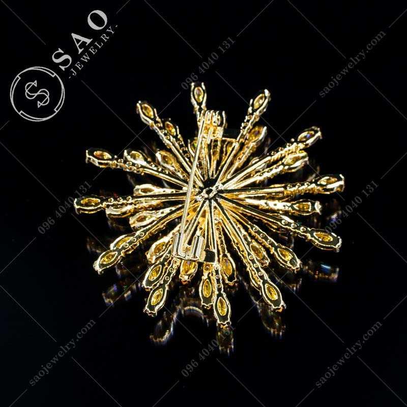 Cài áo cao cấp bạc 925 bông tuyết hàn quốc CA360V
