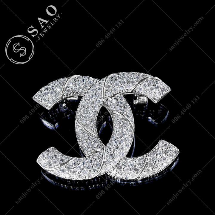 Cài Áo Chanel Đính Đá Cao Cấp CA484T