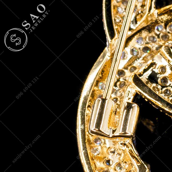 Cài Áo Chanel Đính Đá Cao Cấp CA484V