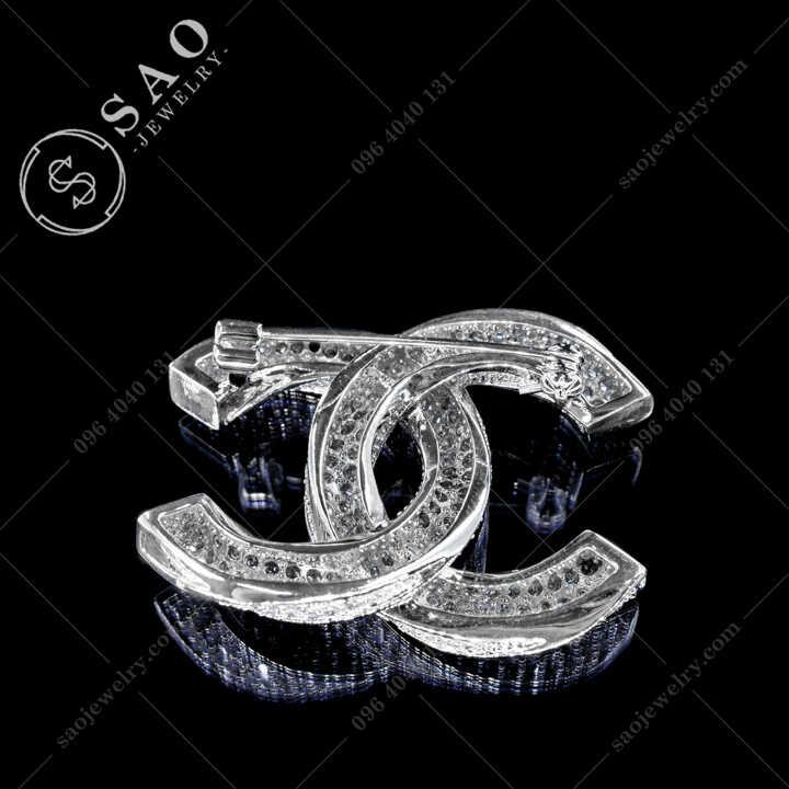 Cài Áo Chanel Đính Đá Sang Trọng CA485T