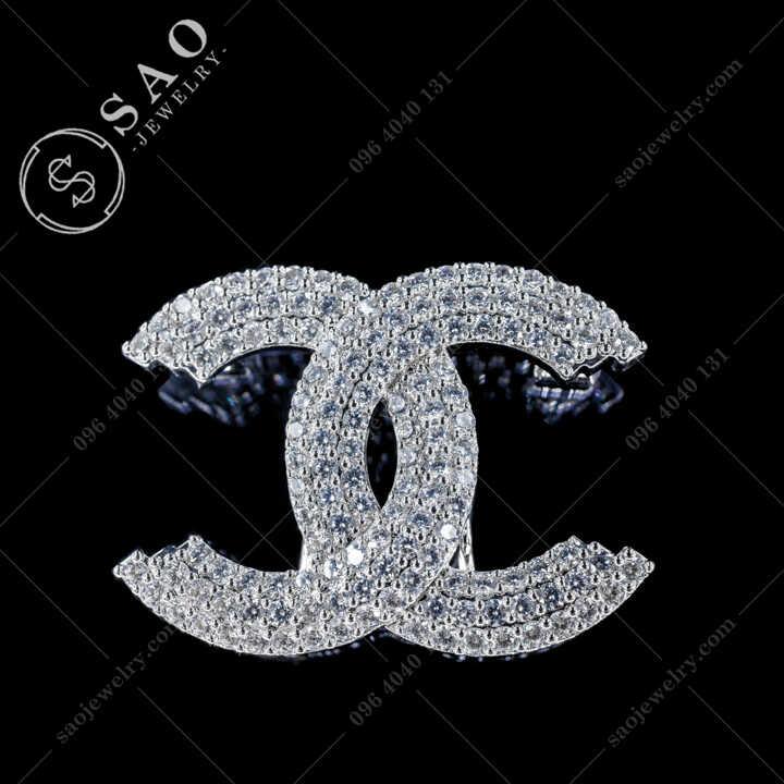 Cài Áo Chanel Đính Đá Zircon Cao Cấp CA481T