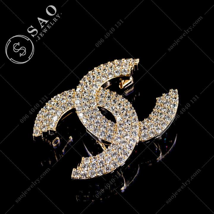 Cài Áo Chanel Đính Đá Zircon Cao Cấp CA481V