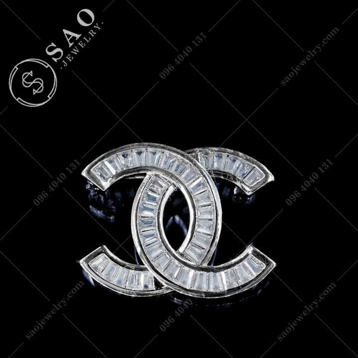 Cài Áo Chanel Đính Pha Lê Cao Cấp CA482