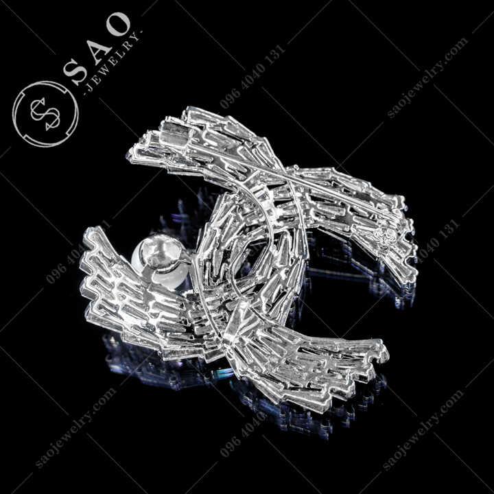 Cài Áo Chanel Pha Lê Đính Ngọc Trai Sang Trọng CA478