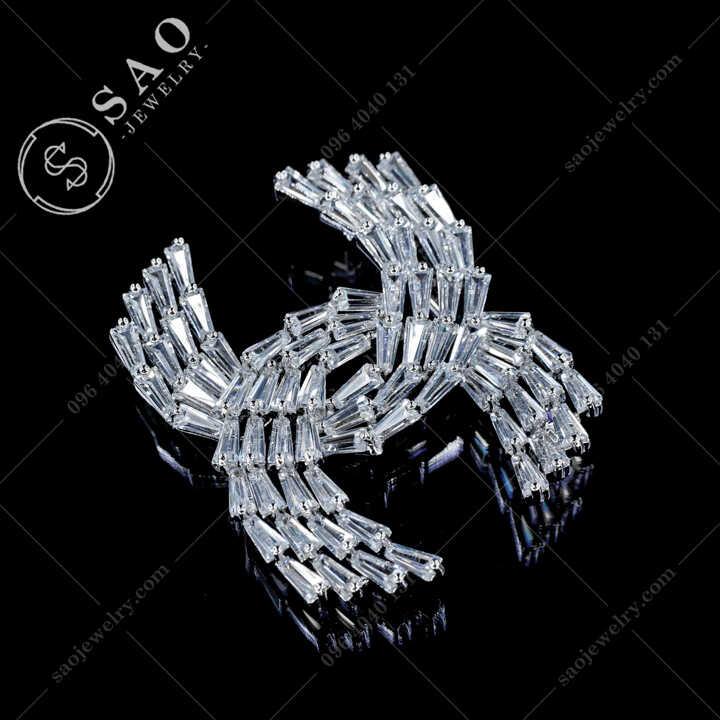 Cài Áo Chanel Pha Lê Sang Trọng CA479T