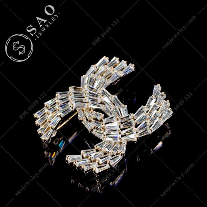Cài Áo Chanel Pha Lê Sang Trọng CA479V