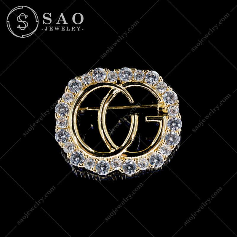 Cài Áo Gucci Đính Đá Cao Cấp CA394
