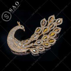 Cài áo hàn quốc phượng hoàng mạ vàng cao cấp CA382