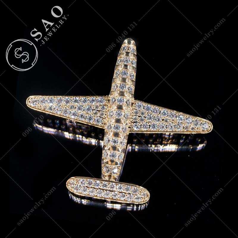 CÀI ÁO máy bay mạ vàng cao cấp CA296V
