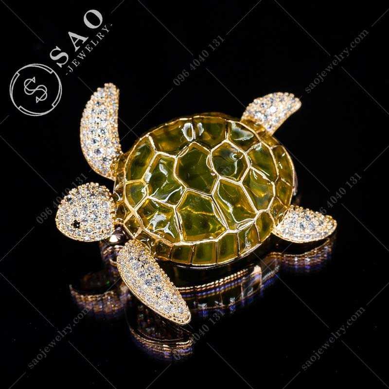 Cài áo rùa may mắn cao cấp CA340