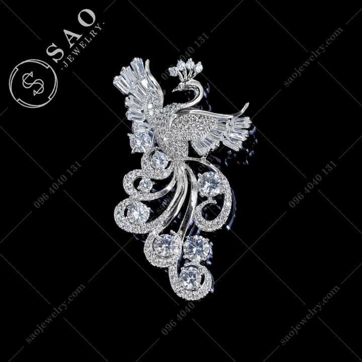 Cài Áophượng Hoàng Múa Lượn Sang Trọng - CA671