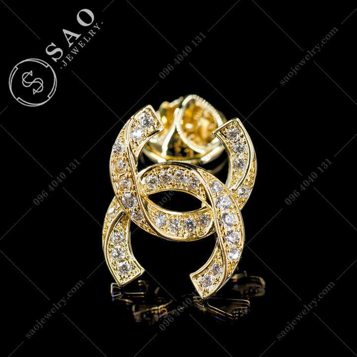 Khuy Cài Áo Chanel Cao Cấp - KCA83V