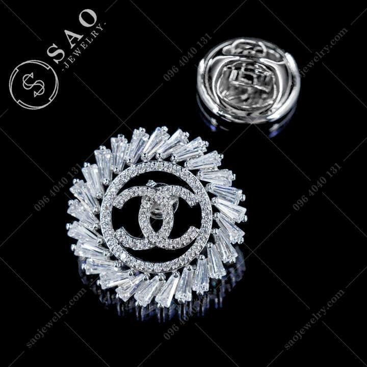 Khuy Cài Áo Chanel Đính Pha Lê Cao Cấp - KCA88