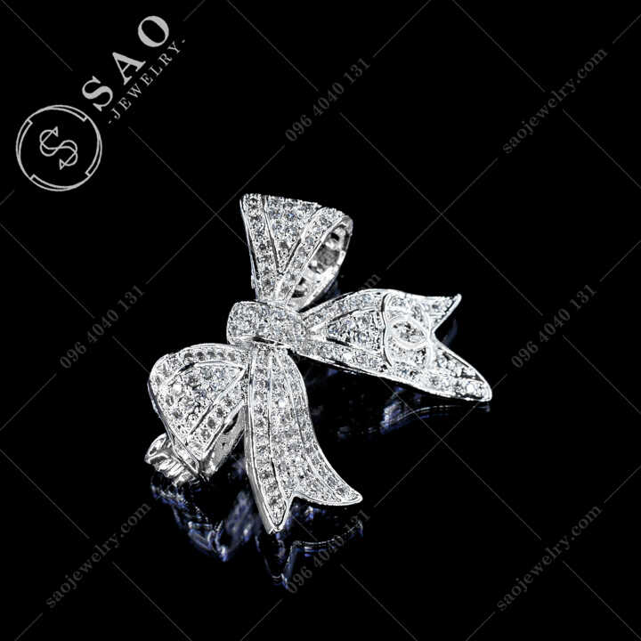 Nơ Cài Áo Chanel Đính Đá Thanh Lịch CA489