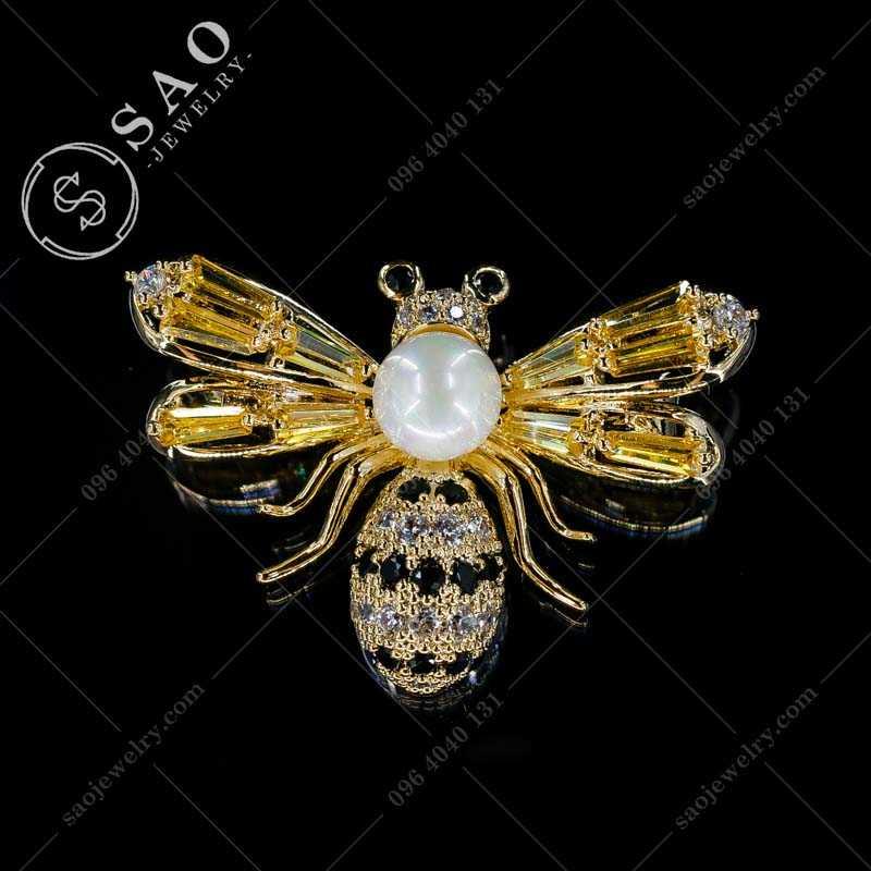 Phụ kiện cài áo ong vàng hàn quốc CA374
